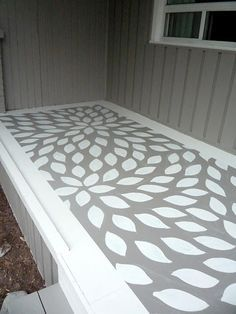 Painted Porch Floor | Painted Floors And Rugs | Pinterest .