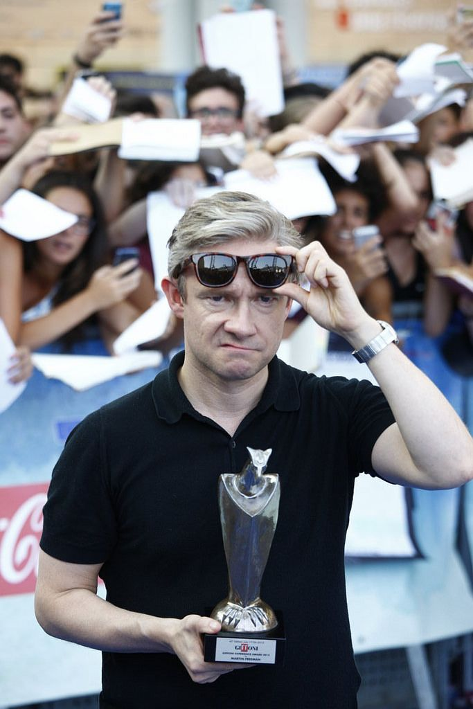Martin you look perfectly, adorably grumpy (Giffoni Film Festival)