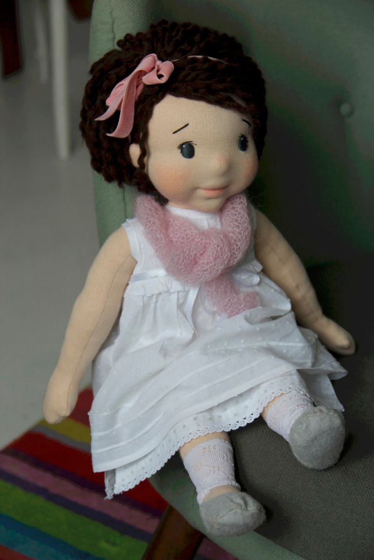 Waldorf ispirato bambola Mela 18 pollici 45cm Handmade di julilale