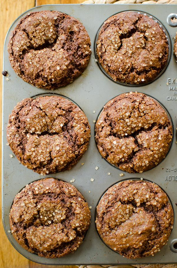 Try something on the healthier side for the holidays with these whole wheat gingerbread muffins made with buttermilk, whole wheat flour and aromatic spices.
