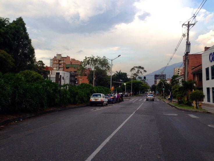 Así se ve la Avenida Bolivariana a las 4:45 p.m. Durante el partido de clasificación al Mundial 2014 Colombia - Chile