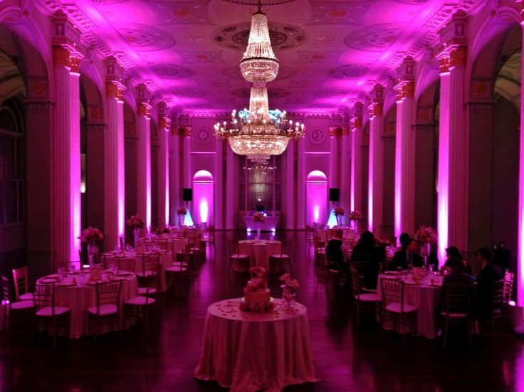 Image result for pantone purple ballroom uplighting
