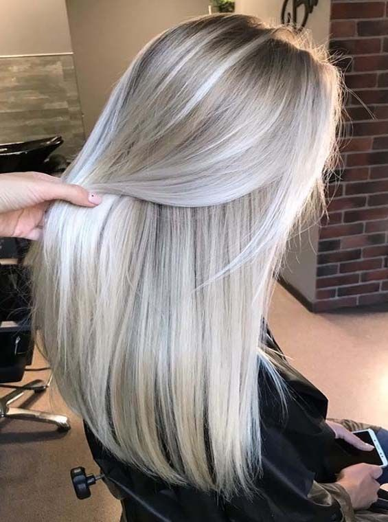 Platinum Pearl Blonde Hair Colors For Long Hair – #blond #Blonde #Colors #hair #…