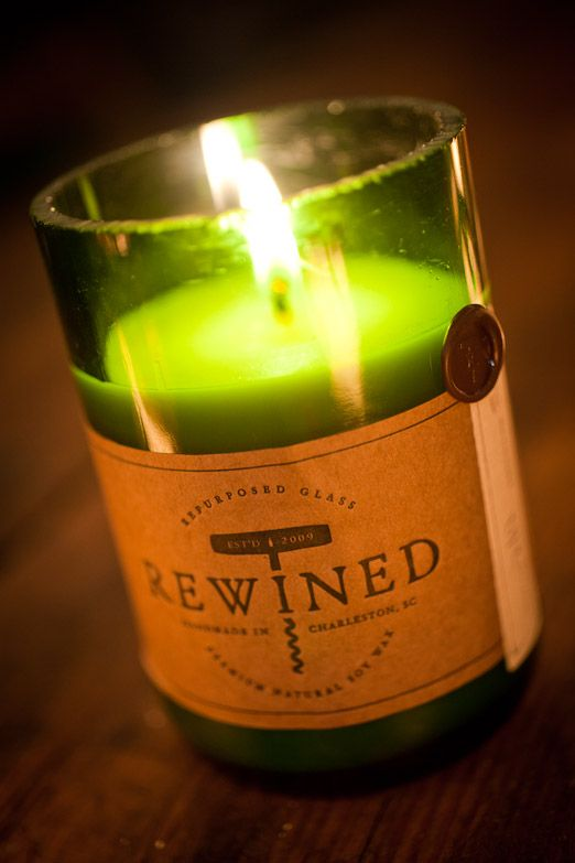REWined Candles : Pinot Noir, Chardonnay, Pinot Grigio, and more...Scented candles out of Wine Bottle...Great Gift!