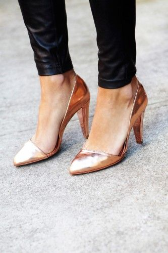 Rose gold pumps - they would go with just about anyting, dressed up or down.
