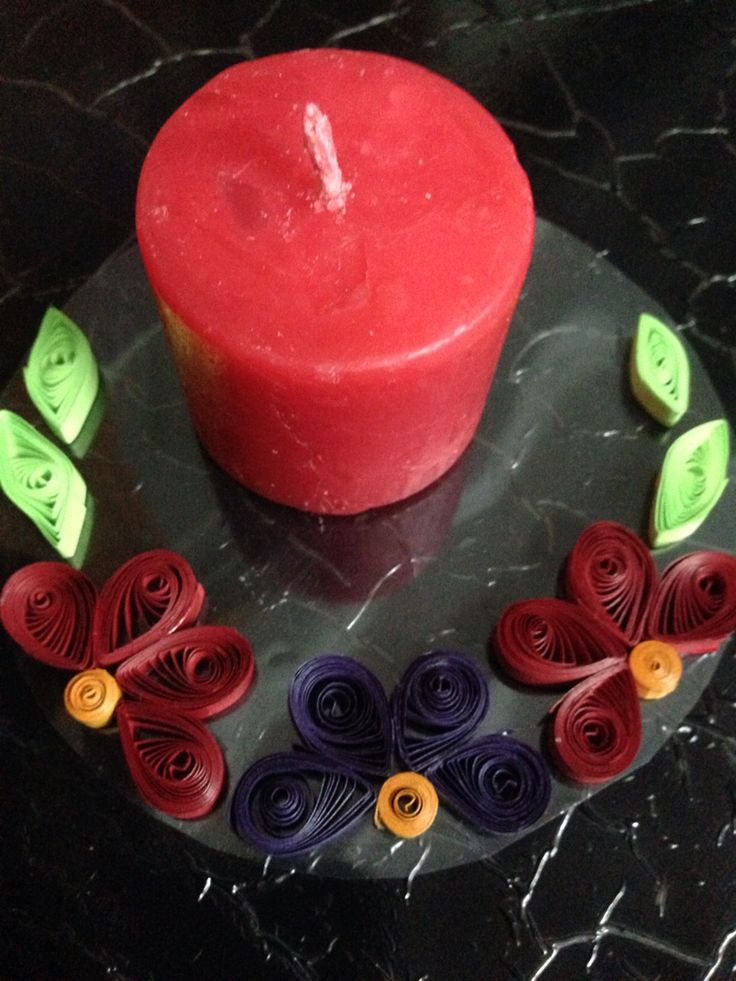 Quilling for candel
