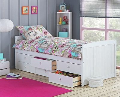 Buy Lennox White 6 Drawer Cabin Bed with Ashley Mattress at Argos.co.uk, visit Argos.co.uk to shop online for Children's beds, Children's beds