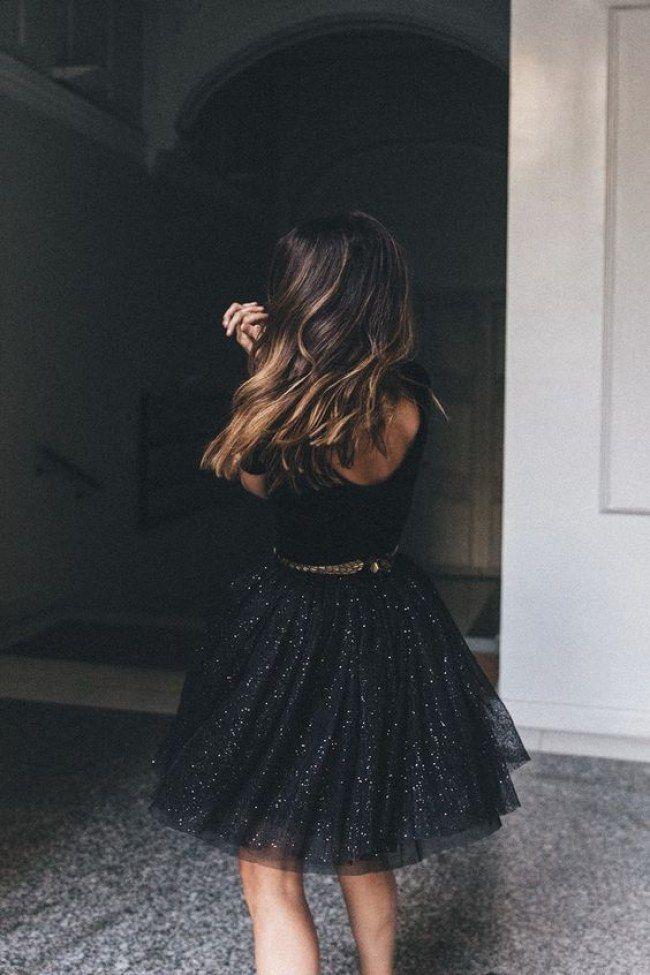 Wow-Looks für jede Figur: SO unterschiedlich kannst du ein schwarzes Kleid komb… – Kleid ideen