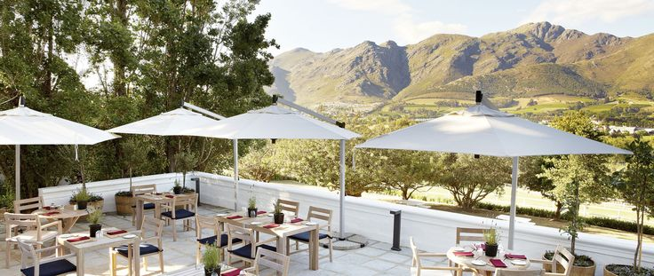 Mont Rochelle has two of the finest restuarants in Franschhoek, Western Cape - just a 45 minute drive from Cape Town. Perfect for fine dining or a light lunch.