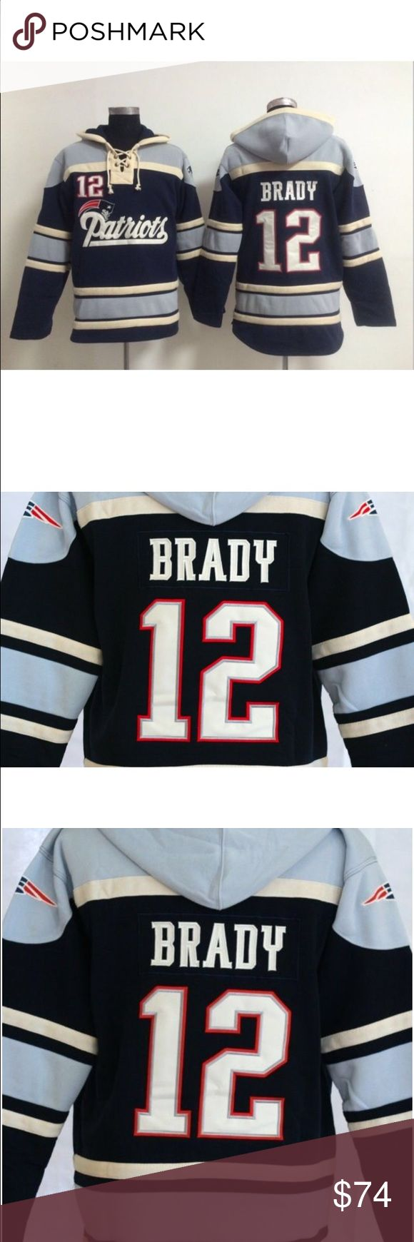 033a1012b ... spain tom brady new england patriots nfl hooded jersey nwot comfy laced  hoodie. many other ...