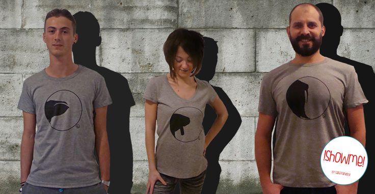 Esempio t-shirts uomo/donna serie Oblò