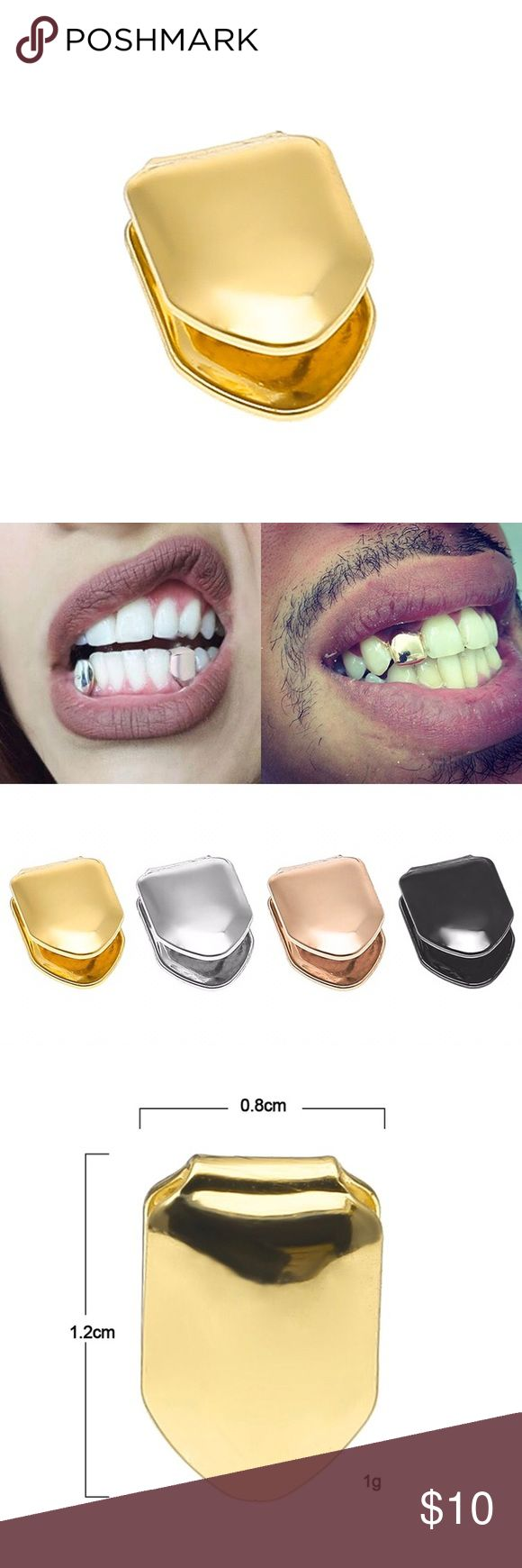 14k gold plated Hip Hop Tooth Cap Grillz Set Hip Hop 14k gold plated Tooth Cap Grillz Set  14k gold plated Package Included: 1 * Single Tooth Grillz 1 * English manual  This grills are lead and nickel free, FDA approved (21 CFR 175,300), and safe to wear inside your mouth. Tsv jewelers Accessories Jewelry