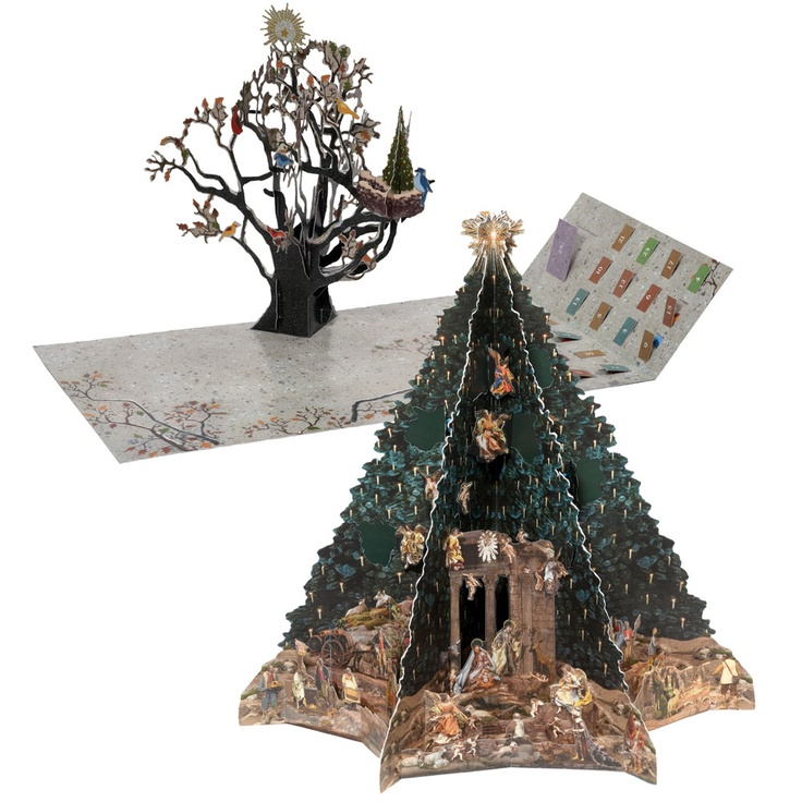 The Met Store - Avian Holiday Pop-Up and Christmas Tree Advent Calendar Set | Christmas tree ...