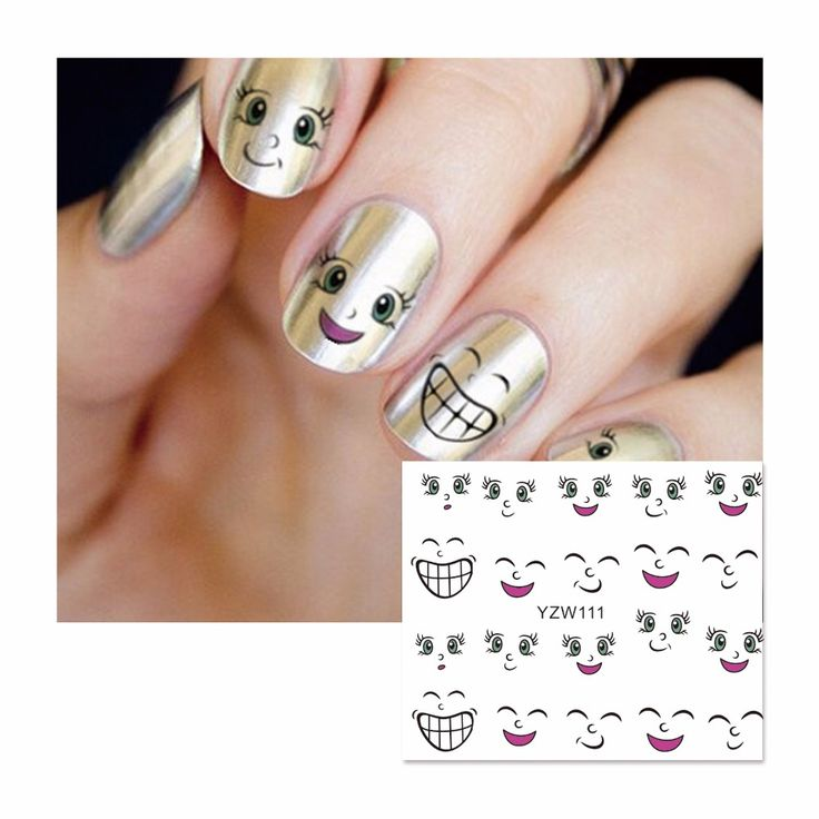FWC Nail Sticker Cartoon Water Adhesive Foil Nail Art Decorations Tool Water Decals 3d Design Nail Sticker Makeup 111