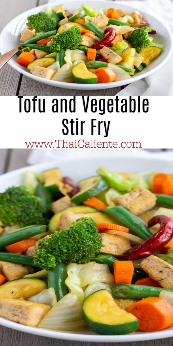 Healthy Tofu And Vegetable Stir Fry