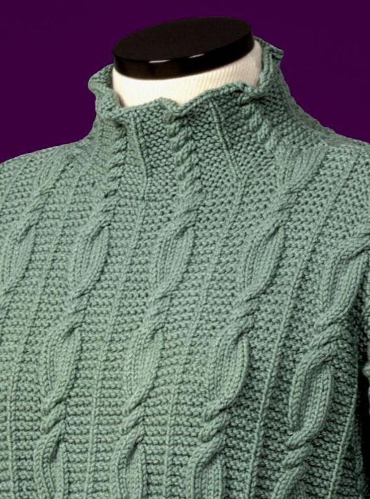 Cable and Garter Stitch Turtleneck #116 | Craftsy
