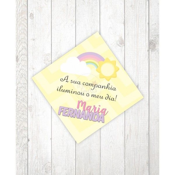 Tag Lembrancinha Festa Arco Iris