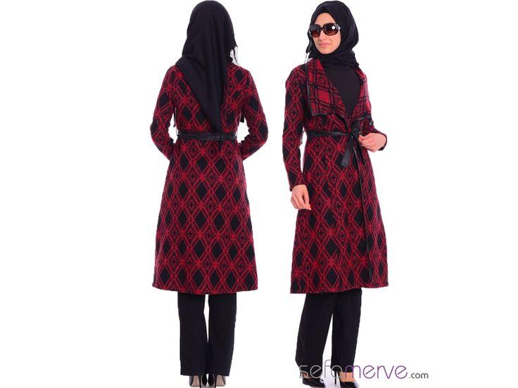 Tesettür Hırka 1731-01 Kırmızı #sefamerve #tesetturgiyim #tesettur #hijab #tesettür