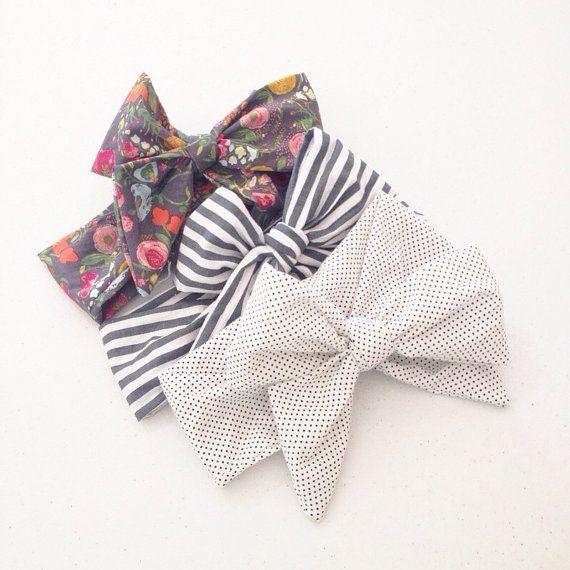 Baby Head wrap / Turban / Headband / Large headwrap / Toddler head wrap / Bow Headband / Guguberry / SWISS DOT