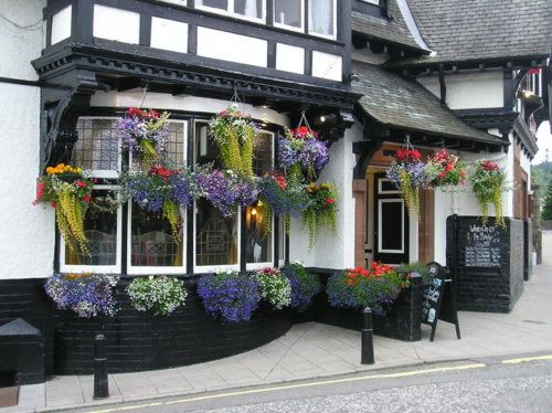Blooming Bridge Pub in Peebles, Tweeddale, Scotland