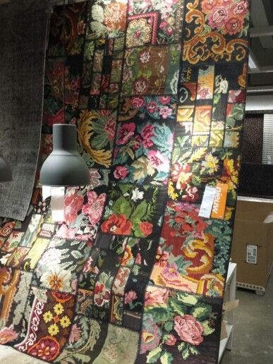 Patchwork rozenkelim van Ikea