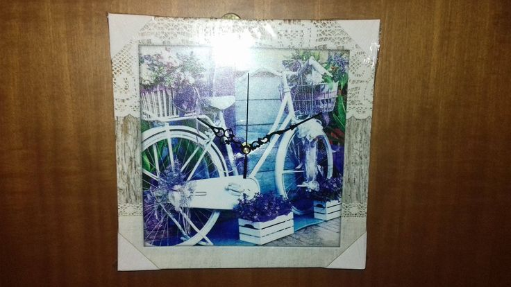 """Wall Clock Canvas Picture Subject: (Bicycle) Decoration Apartment 30X30 11,8""""X 11,8"""" by AlternativeByGeorge on Etsy"""