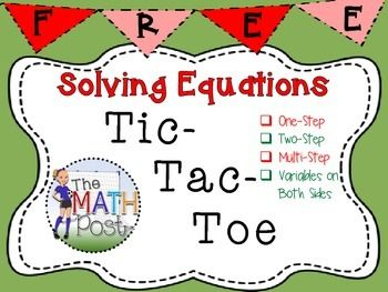 Great warm up or closure activity for your students to use to practice solving equations.   Give students a choice of the problems they want to solve!