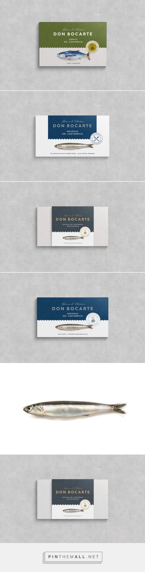 Bon Bocarte, Art for your palate - canned fish packaging design by Supperstudio - https://www.packagingoftheworld.com/2018/04/bon-bocarte-art-for-your-palate.html