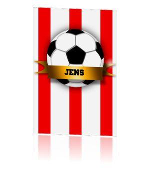 Voetbal kaart uitnodigingskaartjes kinder feestjes jongens