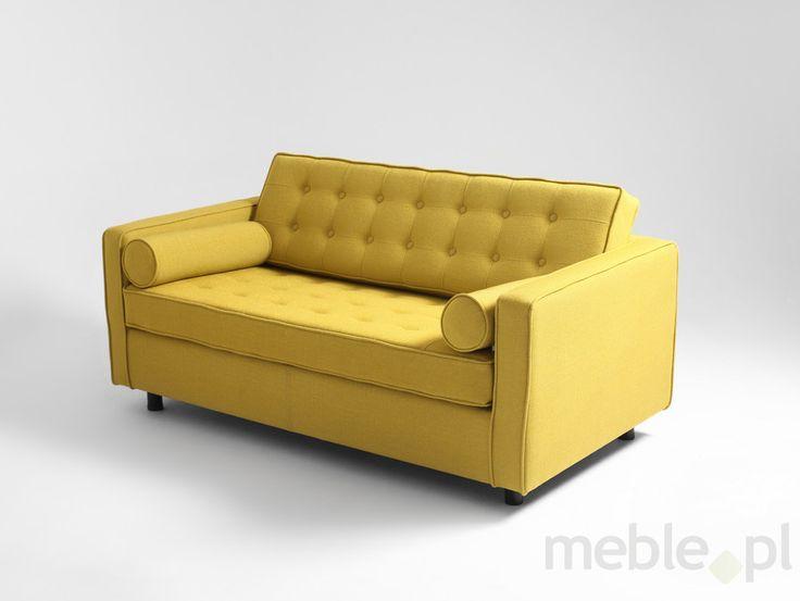 Sofa Topic - 2 os. rozkł., kurkuma, Customform - Meble