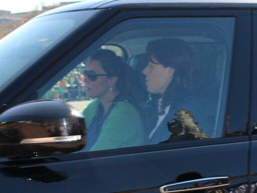 Kate Middleton driving with her PO, Emma.