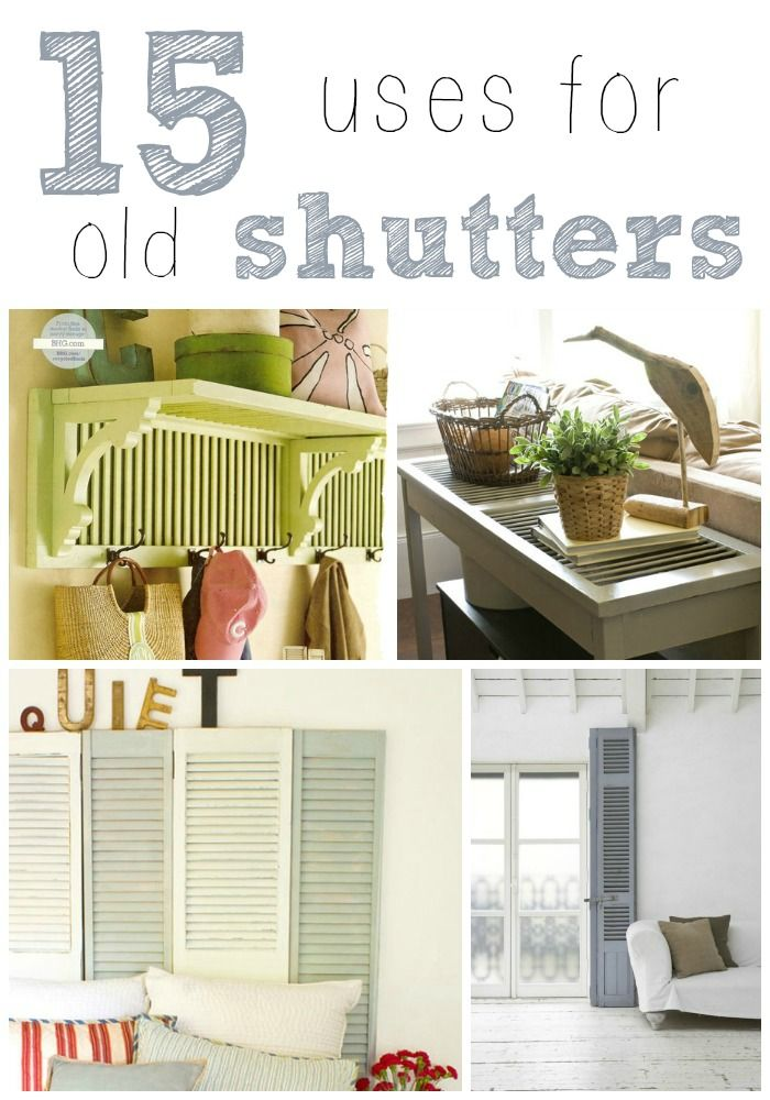15 creative uses for old shutters