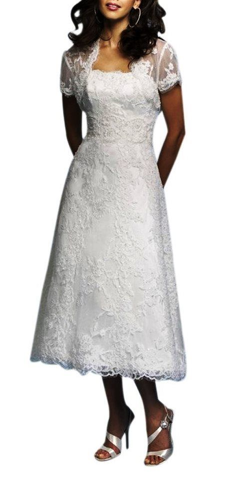 tea length wedding dresses for older brides wedding