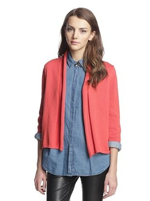 75% OFF Cotton Addiction Women's Shawl Collar Cardigan (Persimmon)