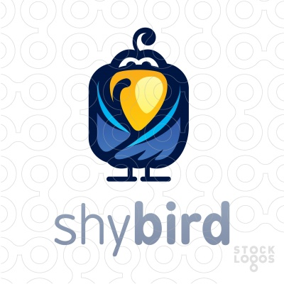 shy bird by Nekiy. find it in stocklogos