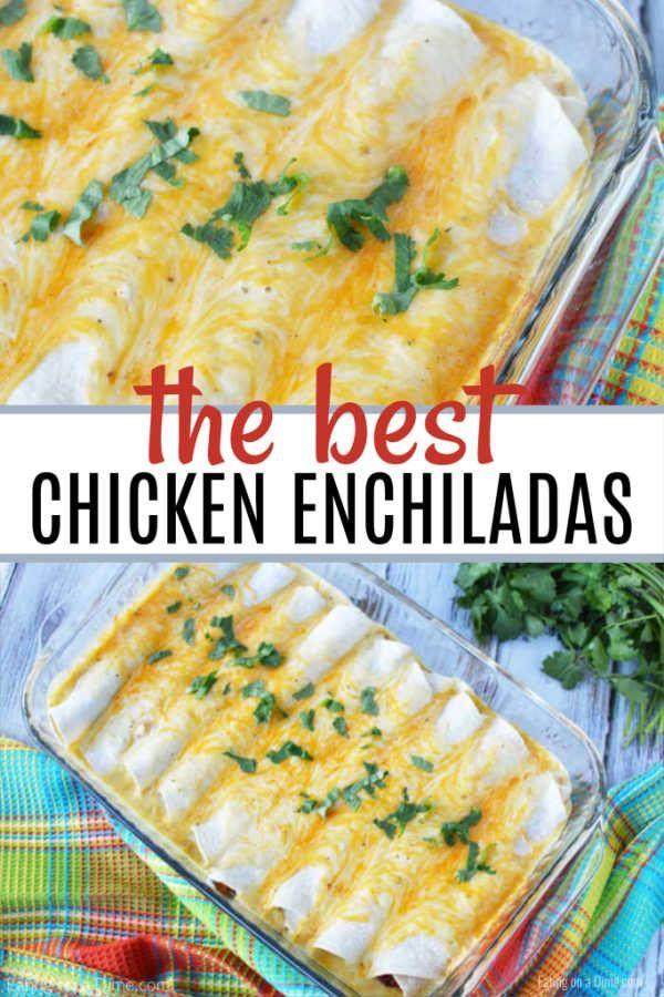 THE BEST SOUR CREAM CHICKEN ENCHILADAS