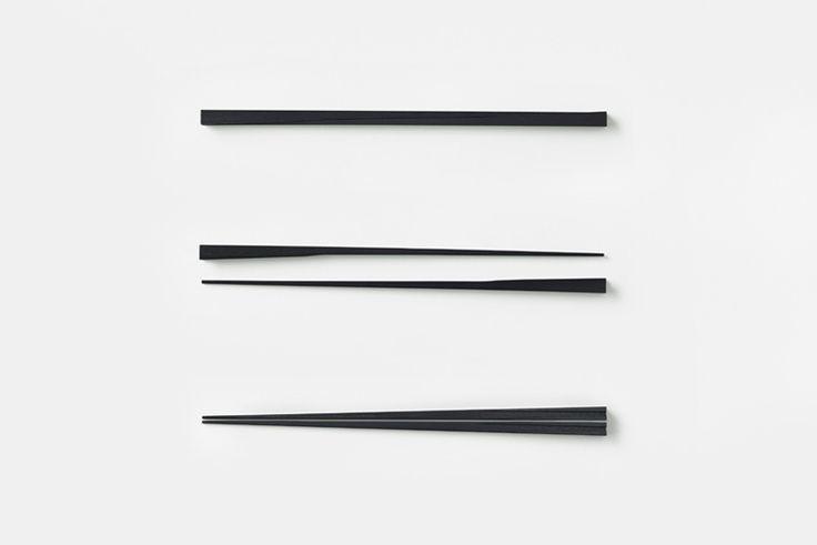 nendo chopsticks for hashikura matsukan designboom