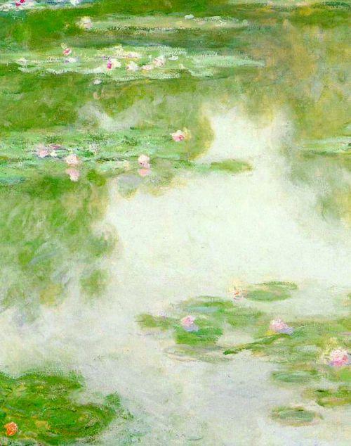 Lirios de agua (detalle), Claude Monet.