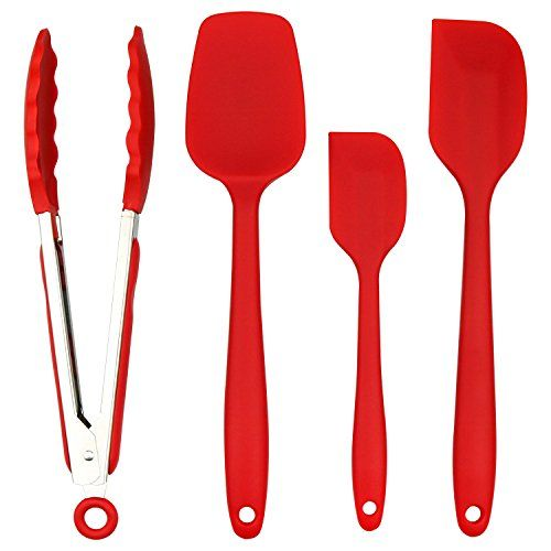 From 8.99 Zesgood Silicone Spatula Set Silicone Kitchen Utensils 1 Barbecue Tongs 2heat-resistant Spatulas And 1baking Spoon