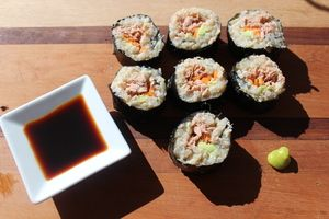Quinoa and Brown Rice Sushi processed sugar free and gluten free