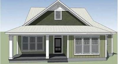 <!-- Generated by XStandard version 2.0.0.0 on 2013-04-12T11:00:26 --><ul><li>Only 40' wide, this adorable Southern cottage was designed for a narrow lot.</li><li>The open floor plan makes the most of space with the views flowing from living room to dining room to kitchen.</li><li>A rear covered porch is deep enough for lots of comfortable chairs.</li><li>All the bedrooms are on the right wing of the home with the master...