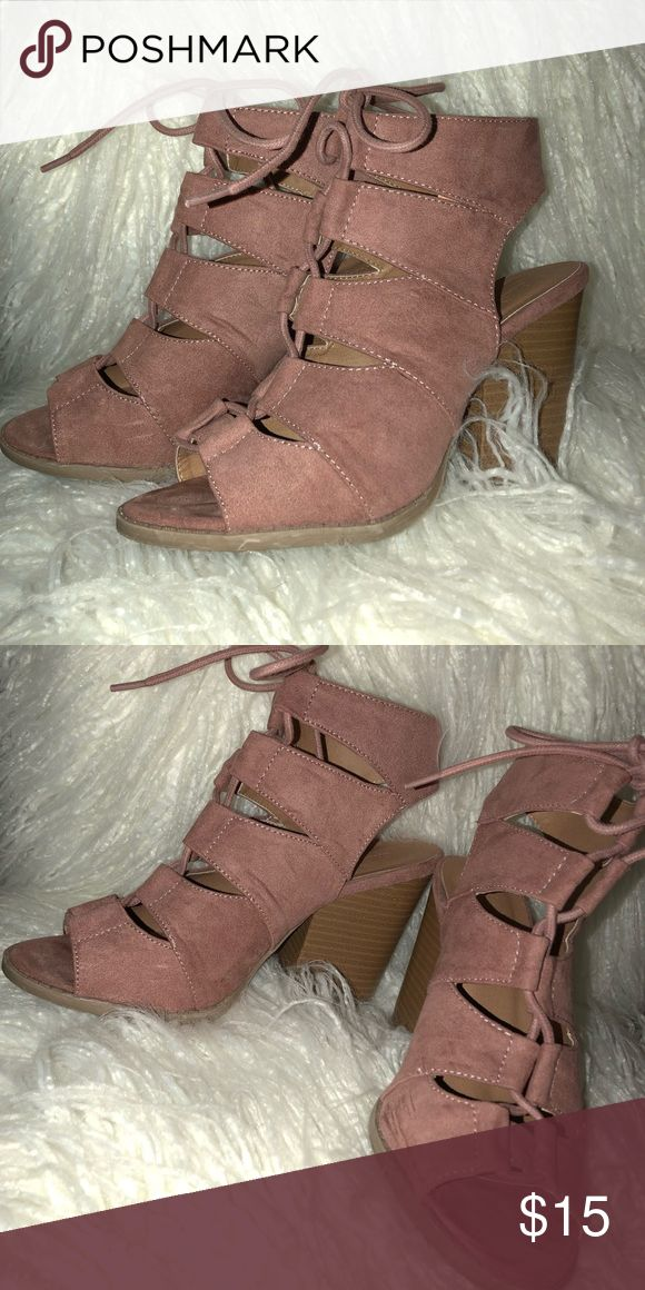 Pinky Mauve Wedges Heels, perfect for summer or indoor event, only worn once, size 6 Charlotte Russe Shoes Wedges