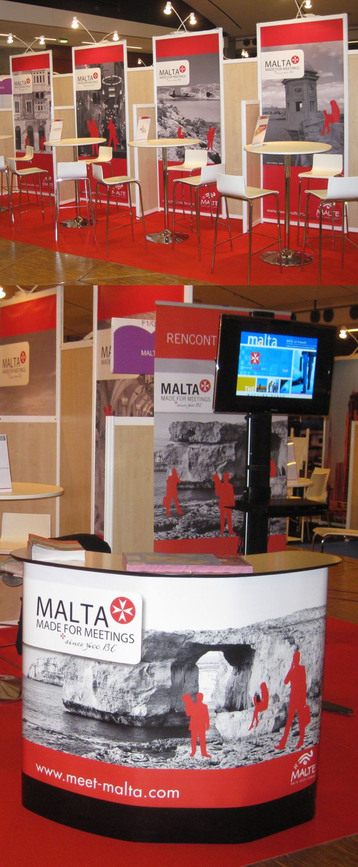 Exhibition graphics for Malta Meetings