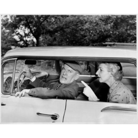 Close-up of a mature couple arguing in a car Canvas Art - (18 x 24)