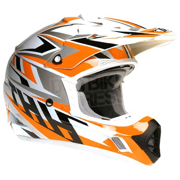 2015 THH TX-12 Helmet - Strike White Orange