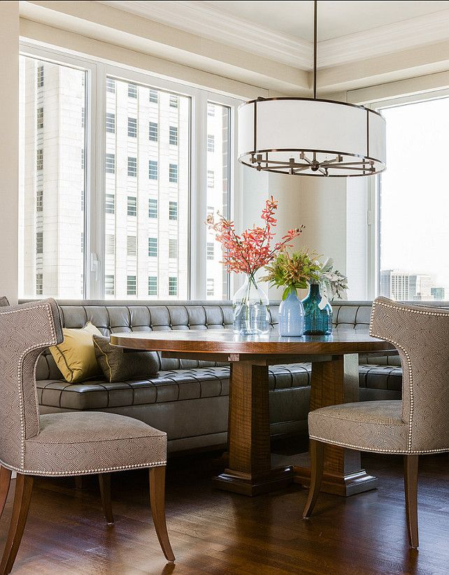 Love This Banquette Back Bay Residence