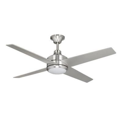 I know many people have an aversion to ceiling fans, but we like them.  They are practical and cut our cooling costs here in the south.  However, they are ugly.  Here's one that is kind of stylin'....from Home Depot.