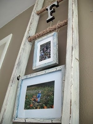 living room decor home sweet home: Decorating Idea, Ideas, Craft, Old Ladder, Shabby Chic, Ladders, Living Room, Ladder Idea