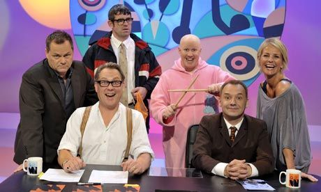Jack Dee, Vic Reeves, Angelos Epithemiou (Dans Skinner), George Dawes (Matt Lucas), Bob Mortimer, Ulrikka Johnson :) DAMN THE BBC FOR CANCELLING THIS LEGENDARY SHOW.