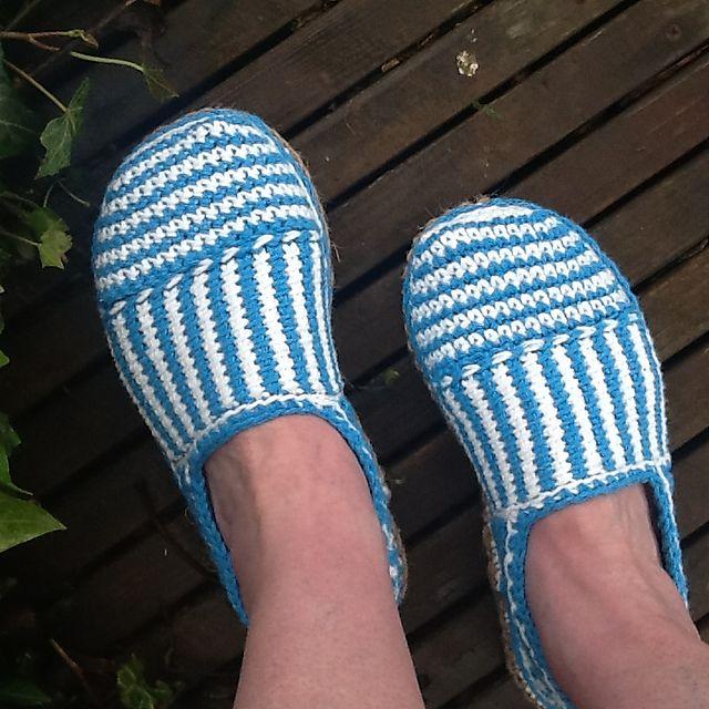 Ravelry: Canvas Stripe Slippers pattern by Sophie and Me-Ingunn Santini